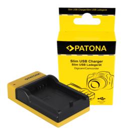 Compact Patona oplader voor de accu Canon LP-E5