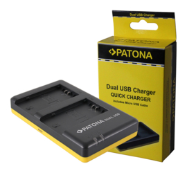Patona USB Dual Quick Charger voor 2x Accu Sony NP-FZ100
