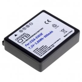 Original OTB Accu Batterij Panasonic CGA-S303(E) - 500mAh OP=OP