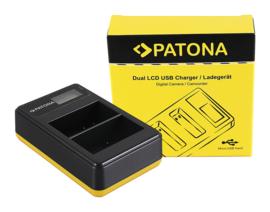 Patona USB Dual Quick Charger LCD Display Nikon EN-EL15(a)