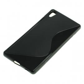 TPU Telefoonhoesje voor Sony Xperia Z3+ S-Curve - Zwart