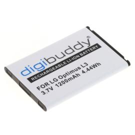 Digibuddy Accu Batterij  LG P970 Optimus Black - 1200mAh