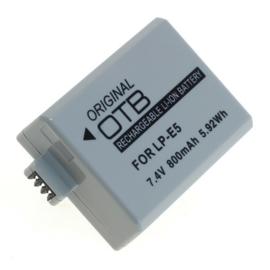Original OTB Accu Batterij Canon LP-E5 - 800mAh
