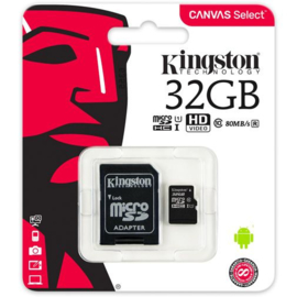 Kingston Micro SDHC Card 32GB Class 10 inclusief SD Adapter