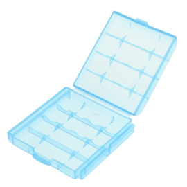 Bewaarbox 4x Accu Batterij AAA of AA Penlite Blauw