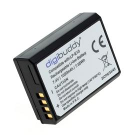Digibuddy Accu Batterij Canon LP-E10 NB-E10 e.a. - 1020mAh