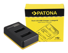 Patona USB Dual Quick Charger LCD Display Sony NP-BX1