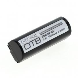 Originele OTB Accu Batterij Fuji NP-80 - 1600mAh