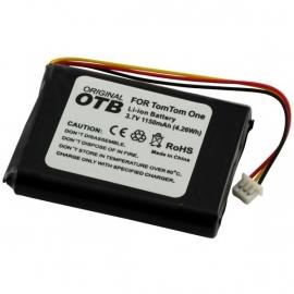 Accu Batterij voor TomTom One (witte stekker, 3 draden)