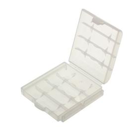 Bewaarbox voor 4x Accu Batterij AAA of AA Penlite
