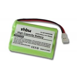 VHBW Accu Batterij Audioline 100AAAHC3BMJ e.a. - 700mAh 3.6V