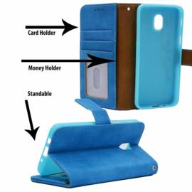 Telefoonhoesje Apple iPhone 11 met insteekvakjes - Blauw 6.1 Inch