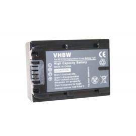 VHBW Accu Batterij Sony NP-FV50 NP-FV30 NP-FV40 Info-Chip 650mAh