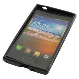 TPU Case voor LG Optimus L5 E610 E612 - Zwart OP=OP
