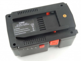 VHBW Accu Batterij Metabo 4123800113048 - 25.2V 3000mAh