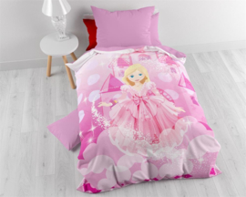 Kids Dekbedovertrek 140x200 + Sloop - Lovely Princess Roze