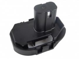18V Adapter accu voor Makita schuif accu's Ni-MH Ni-CD Li-Ion