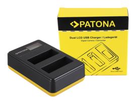 Patona USB Dual Quick Charger LCD Display Nikon EN-EL14(a)