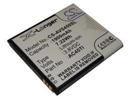 Accu Batterij voor Archos 45 Titanium AC45TI - 1900mAh