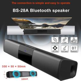 Nieuwe BS-28A Bluetooth Soundbar Luidspreker Cinema Soundbar FM Radio