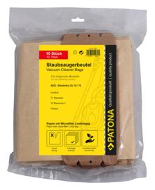 80 stofzuigerzakken meerlagig papier incl. 8x Microfilter AEG 12 15