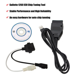 Auto diagnose kabel Galletto 1260 ECU Chip Tuning Tool EOBD / OBD2 / OBDII V0X6
