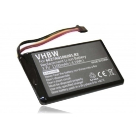VHBW Accu Batterij TomTom R2 - 1100mAh met 5 draden