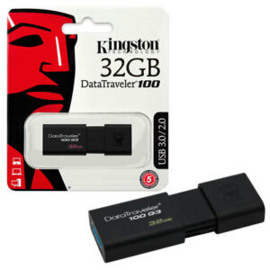 Kingston 32GB Data Traveler 100 G3 USB 3.0 Flash Drive