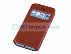 Aavy Window Venster Book Case Samsung Galaxy S4 GT-i9500 - Bruin