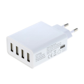 OTB 4 Poorts USB Adapter - Output 5A Auto-ID