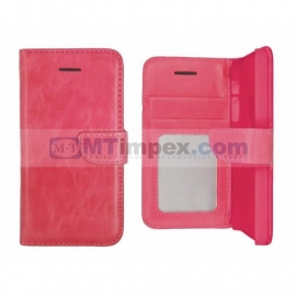 Stylish Book Photo Alcatel One Touch Pop C9 - Roze