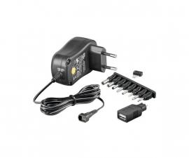 100 – 240V Gestabiliseerde Adapter 3 / 4,5 / 5 / 6 / 7,5 / 9 / 12V + USB
