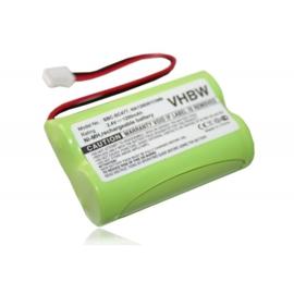 VHBW Accu Batterij Philips NA120D01C089 - 1200mAh 2.4V