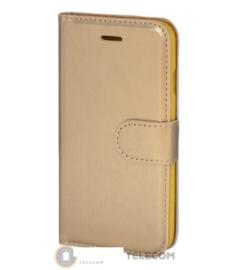 Roud Lock Book Case hoesje Moto G4 - Goud