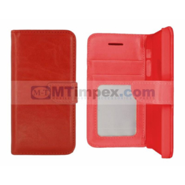 Stylish Bookstyle Case Moto X Play - Rood