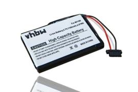 VHBW Accu Batterij Mitac Mio Spirit V735 TV - 1100mAh