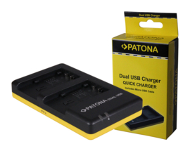 Patona USB Dual Quick Charger voor accu Panasonic SDR-T95