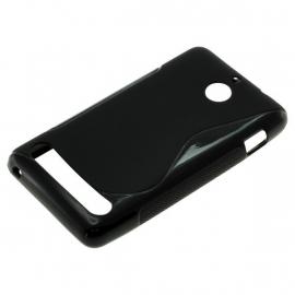 TPU Case voor Sony Xperia E1 S-Curve - Zwart OP=OP