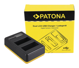 Patona USB Dual Quick Charger LCD Display Canon LP-E8