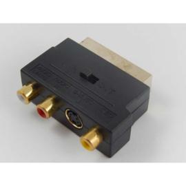 Adapter 3RCA aansluiting op Scart stekker