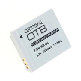Original OTB Accu Batterij Canon NB-6L Canon NB-6LH 750mAh