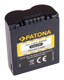 Patona 750mAh PQ Accu Batterij Panasonic CGA-S006 CGR-S006 ..