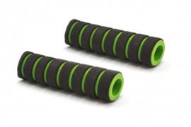 2x Handvat Kinderfiets 110mm lang 17mm diameter - Groen/Zwart