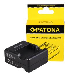Patona USB Dual Quick Charger voor Xiaomi Yi AZ13-2 AZ13-1