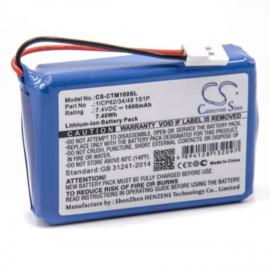 Accu Batterij 1ICP62/34/48 1S1P CS-CTM100SL CTMS Eurodetector