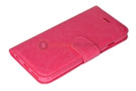 Roud Lock Book Case hoesje Moto G4 - Roze