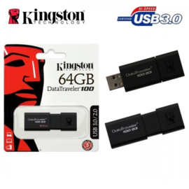 Kingston 64GB Data Traveler 100 G3 USB 3.0 Flash Drive