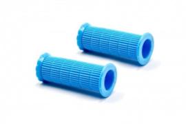 2x Handvat Kinderfiets 86mm lang 22mm diameter - Blauw