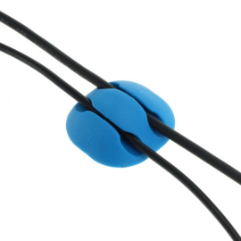 10x OTB TPU Kabelclips Kabelhouder Kabelgeleider - Blauw