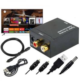 Digitaal naar Analoog Converter Optische Coax Toslink DAC RCA L / R Stereo Audio Adapter